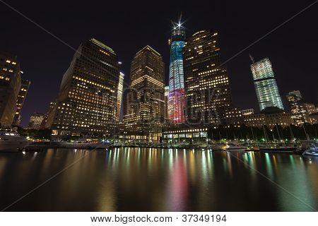 New York City 17. September: ein World Trade Centers (bekannt als der Freedom Tower) ist neu unter gezeigt