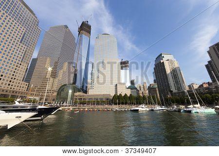 New York City 17. September: ein World Trade Centers (früher den Freedom Tower genannt) wird angezeigt.