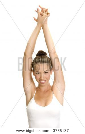 Lady In Aerobic Pose