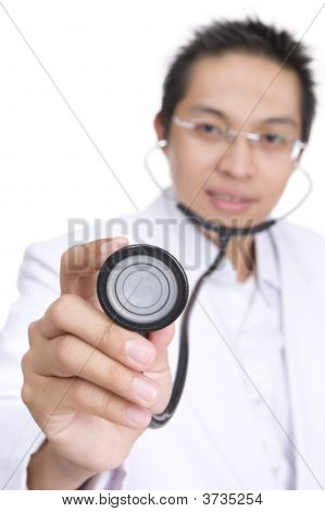 Examining Using Stethoscope