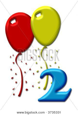 Two Colorful Balloons