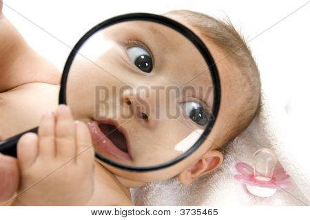 Baby Magnified Face