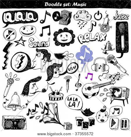 big doodle set - music
