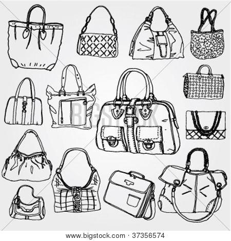 Women's Bags Hand Drawn