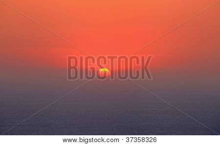 Sunset Over Monolithos Castle