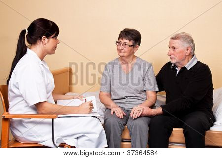 support to family members of a patient