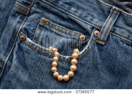 Blue Jeans with Pearls