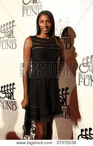 NEW YORK-SEPT. 24: Former basketball player Lisa Leslie attends the 27th annual Great Sports Legends Dinner for the Buoniconti Fund at the Waldorf-Astoria on September 24, 2012 in New York City.
