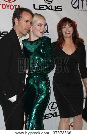 LOS ANGELES - SEP 29:  Tyler Shields, Francesca Eastwood, Frances Fisher arrives at the 2012 Environmental Media Awards at Warner Brothers Studio on September 29, 2012 in Burbank, CA