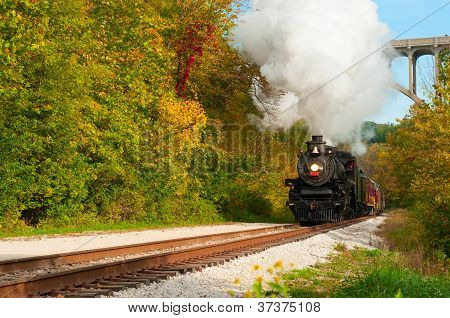 Steam Train Approaching