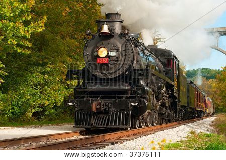 Steam Train Close