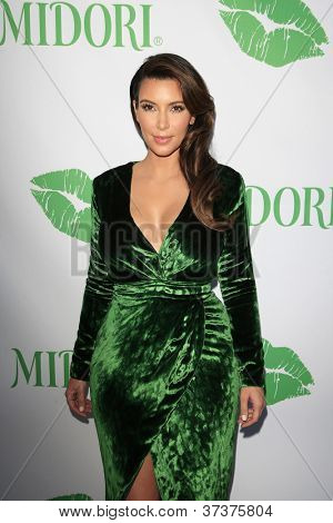 SANTA MONICA - SEP 25: Kim Kardashian at the Midori Makeover Parlour at Fred Segal on September 25, 2012 in Santa Monica, California