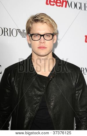 BEVERLY HILLS - SEP 27:  Chord Overstreet at the Teen Vogue's 10th Anniversary Annual Young Hollywood Party on September 27, 2012 in Beverly Hills, California