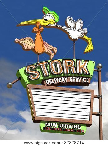 Stork Delivery Service Full Screen