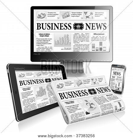 Konzept digitale Nachrichten