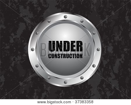 Under Construction Abstract Vector Illustration With Special Metallic Design