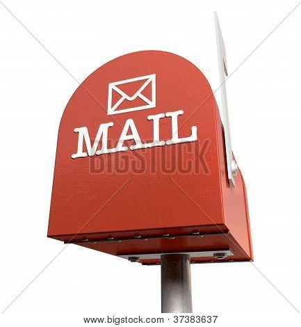 Old School Retro Red Mailbox