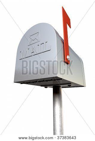 Old School Retro Metal Mailbox