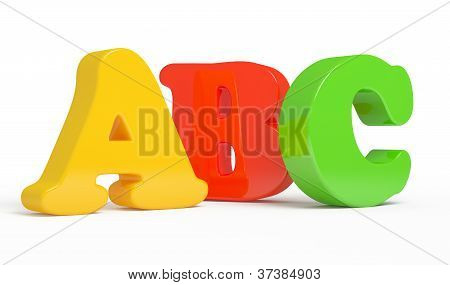 Color ABC Letters over white background.