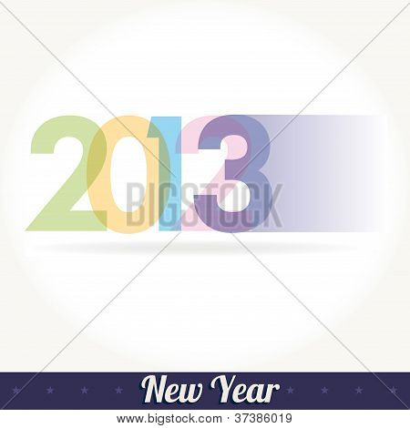 New 2013 year greeting card vector illustration