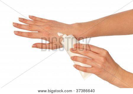 cosmética crema para manos