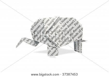 Elefante de papel