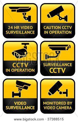 Security camera sign set