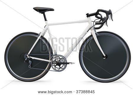 3d sport race bike detailed
