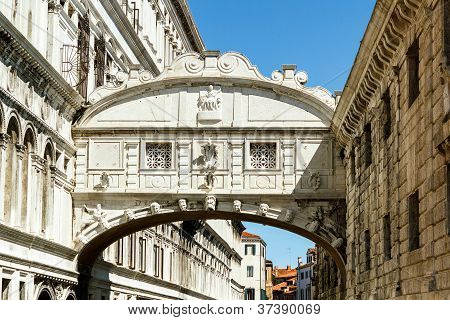 Detail Of Architecture Near Bridge Of Sighs Venice