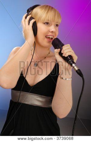Cute Blond Girl Singing