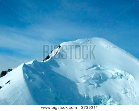 Aerial View Of  Mont Blanc