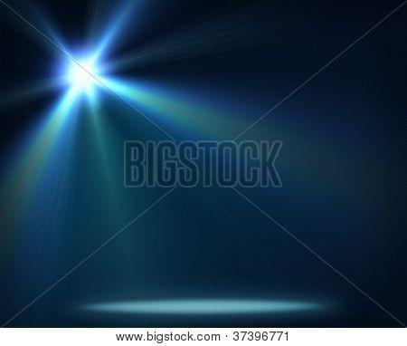 iluminación del concierto contra una ilustración de fondo oscuro