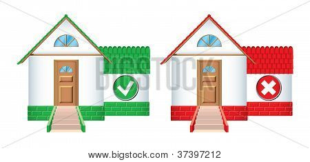House Icons Accepted And Rejected