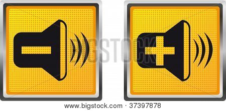 Icons Sound For Design Vector Illustration