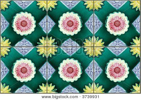 Nyonya Tiles With Sunflowers