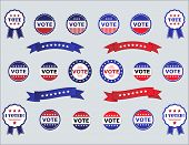 picture of election campaign  - Voting Badges and Stickers for Elections for USA elections  - JPG