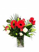 picture of vase flowers  - a beautiful flower arrangement in a vase - JPG