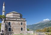 pic of giannena  - Its Kale castle and the Fethiye Mosque at Ioannina city in Greece - JPG