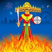foto of ravan  - illustration of Raavan Dahan for Dusshera celebration - JPG