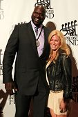 NEW YORK-SEPT. 24: Shaquille O'Neal and Jill Martin attend the 27th annual Great Sports Legends Dinn