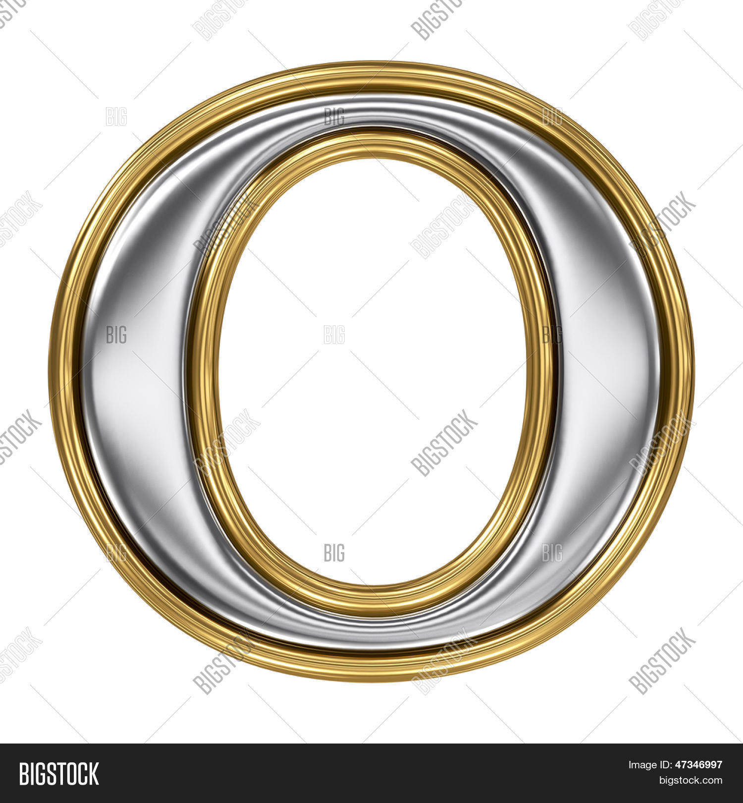 Silver And Gold Leters: Metal Silver Gold Alphabet Letter Image & Photo