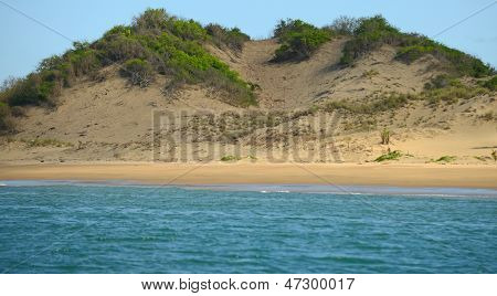 Landscape Of Shoreline With Sand Dune In Panama