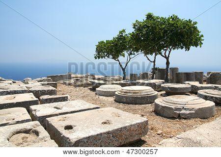Ancient Thera On Santorini