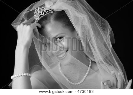 Shy Beautiful Bride