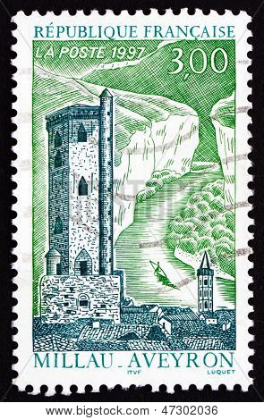 Postage Stamp France 1997 Belfry Tower, Millau