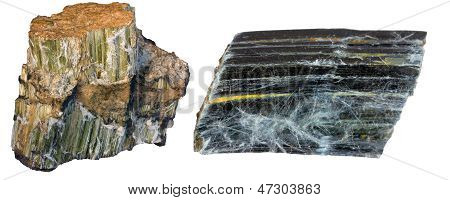 Asbestos Minerals Collage