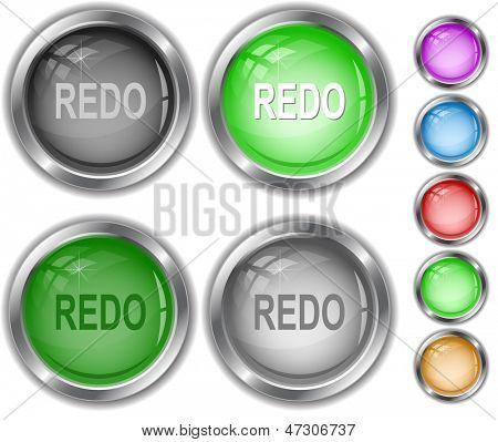 Redo. Raster internet buttons. Vector version is in portfolio.