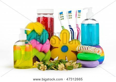 Set Of Bath Accessories With An Aromatic Mixture
