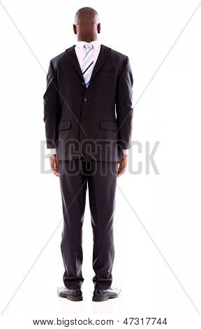 Anonymous business man faceless �¢?? isolated over a white background