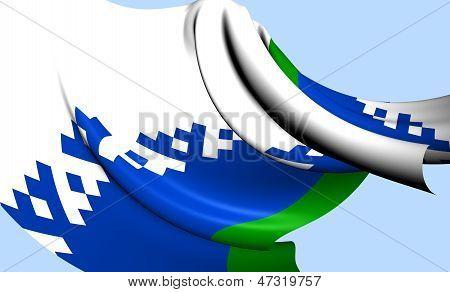 Nenets Autonomous Okrug Flag, Russia.